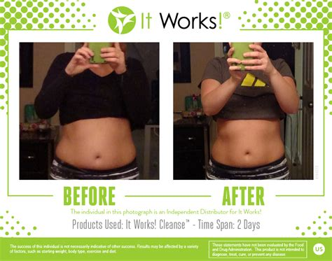 Make My Detox It Works Wrap by Awesome Results From 2 Days Using The It Works Cleanse