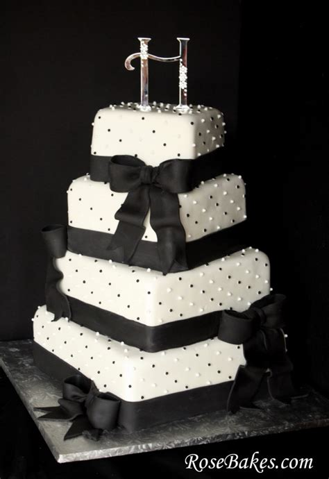 Black And White Wedding Cakes by My Wedding 187 Black And White Wedding Cakes Pictures