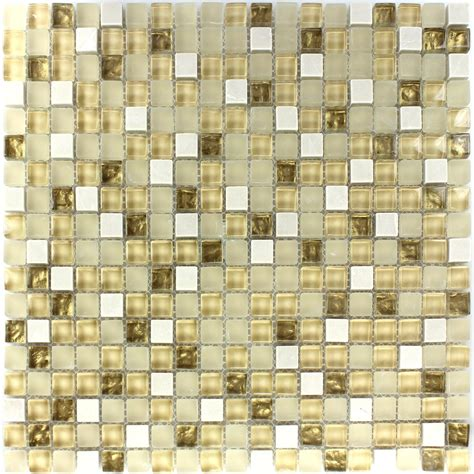 glas naturstein mosaik fliese wei 223 gold mix tm33100m