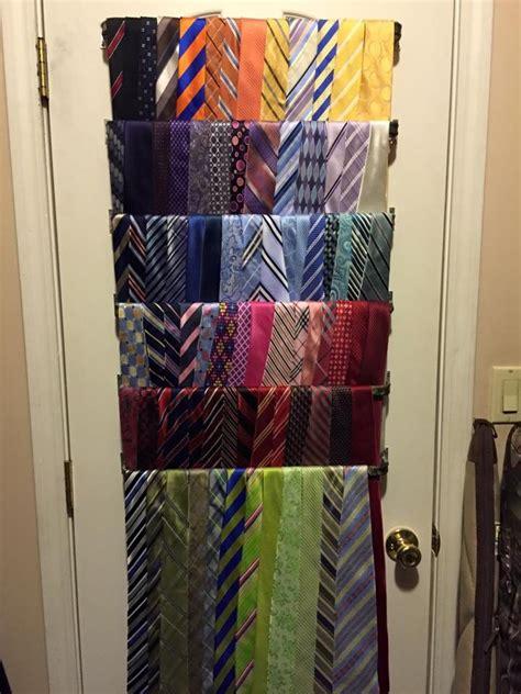 cheap curtain rods diy diy men s tie rack using cheap curtain rods diy