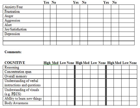 therapy assessments blank assessment form therapy