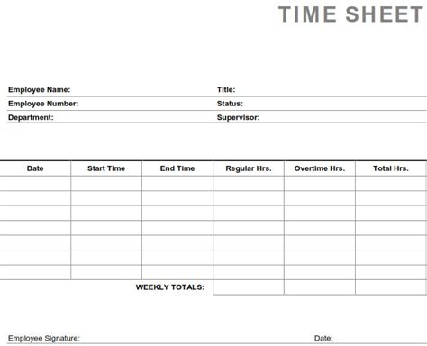 clock in sheet template printable pdf timesheets for employees printable weekly