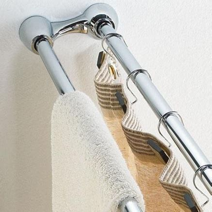 double shower curtain tension rod whole home 174 md dual tension shower curtain rod
