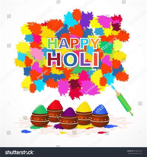 indian festival happy holi greeting card stock vector