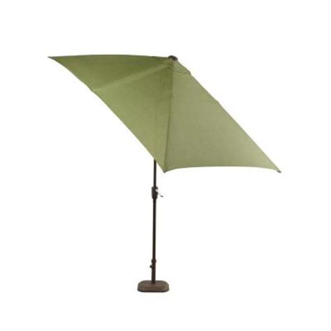 Patio Umbrellas Rectangular Hton Bay Pembrey Rectangular Patio Umbrella In Moss Hd14221 The Home Depot