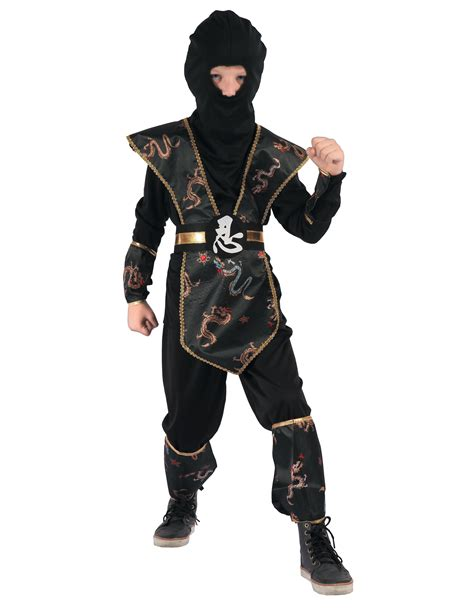 gold coloured ninja dragon costume  boys kids costumes