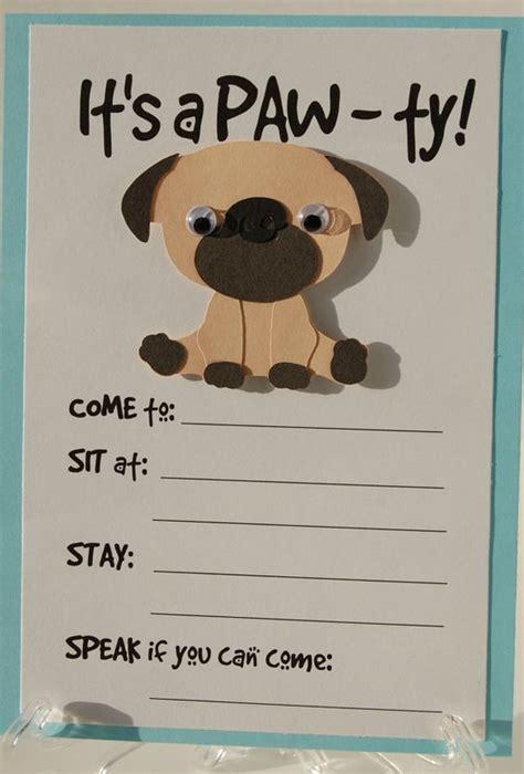 printable dog invitation pug party invitation puppy birthday invites dog party