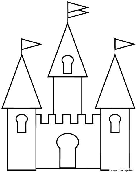Coloriage Chateau Fort Maternelle Facile Dessin