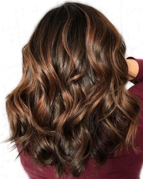 chocolate hair color with caramel highlights 60 looks with caramel highlights on brown and brown hair