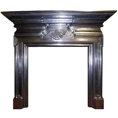Iron Fireplace Mantel by Antique Large Edwardian Burnished Cast Iron Mantel