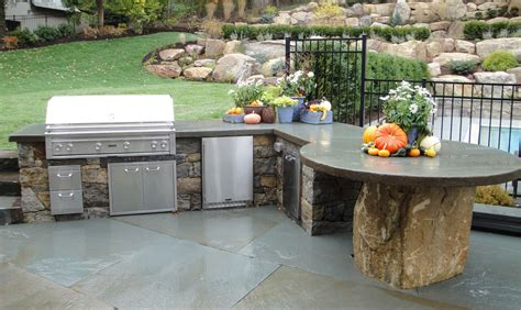 kitchen outdoor grill station ideas with concrete
