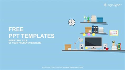 template ppt computer free blog grid