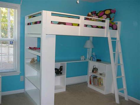 bedroom great loft bed with desk underneath loft bed