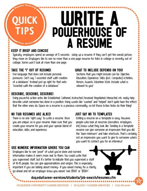 Tips For A Resume by Resume Tips Resume Cv