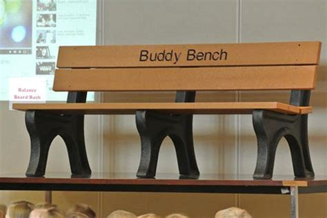 buddy bench story buddy bench helps tpca students build friendships