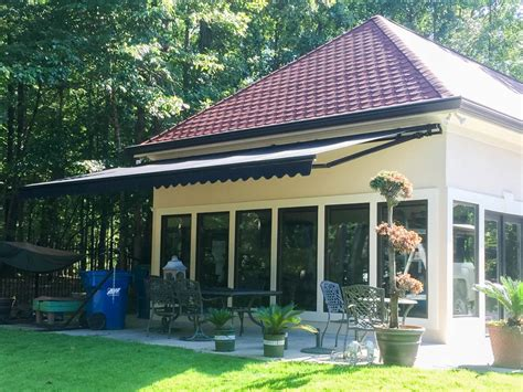 patio retractable awnings save space in small bedroom