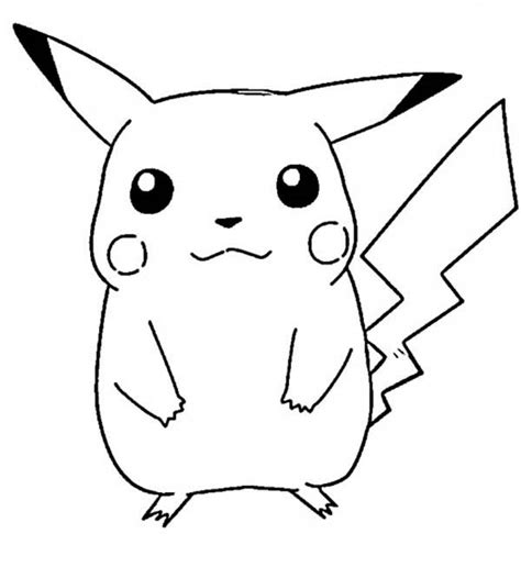 13 printable pikachu coloring pages print color craft