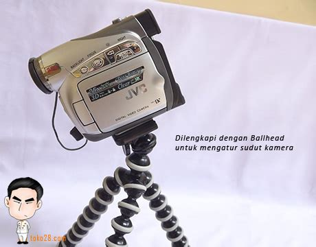 Gorillapod Untuk Hp tripod fleksibel kamera prosumer tinggi 27cm berat 160gr