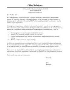Resume Education Section by Executive Assistant Covering Letter Examples