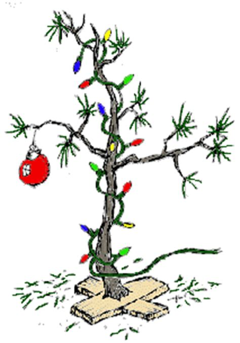charlie brown christmas tree clipart