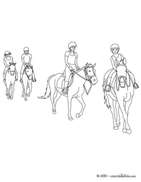 horse riding school coloring pages hellokids com