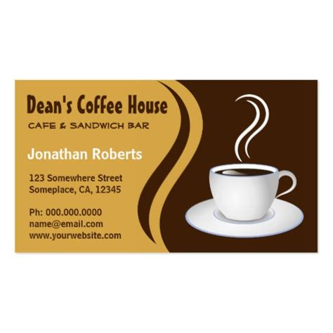 The Gift Card Cafe - brown and beige coffee shop cafe business cards zazzle