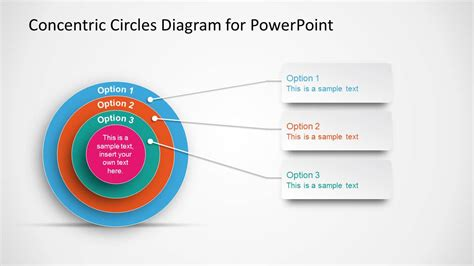 concentric circles diagram template  powerpoint