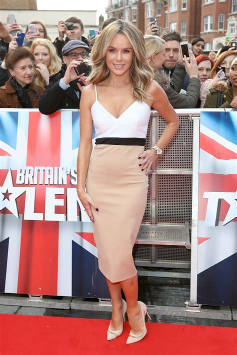 amanda holden steals the show in beckham dress at britain s got talent auditions