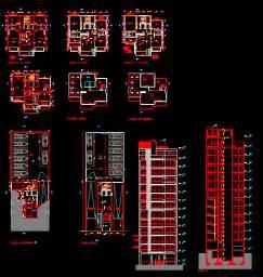 Cad Floor Plans Free Download engineering et architecture plan autocad d un immeuble d