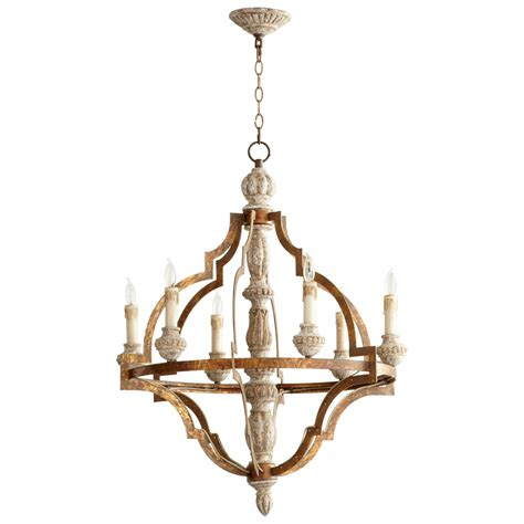 schmiedeeiserner kronleuchter bastille 6 light wrought iron chandelier by cyan design