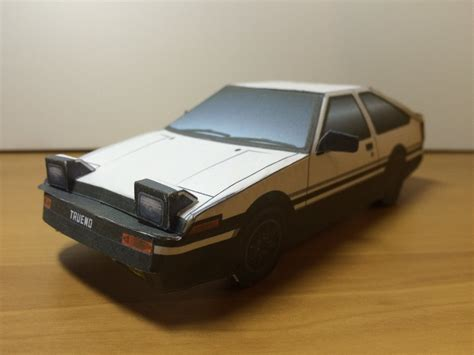 Toyota Papercraft - initial d toyota ae86 trueno papercraft by zhyper2 on