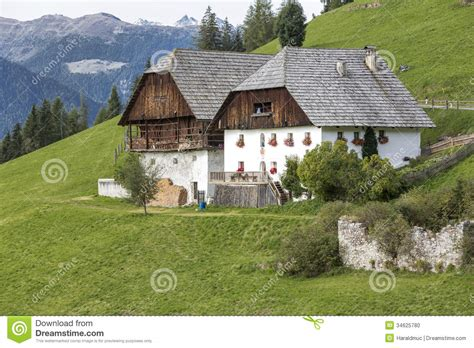 Cottage Building Plans typical farm houses in south tyrol italy stock photo