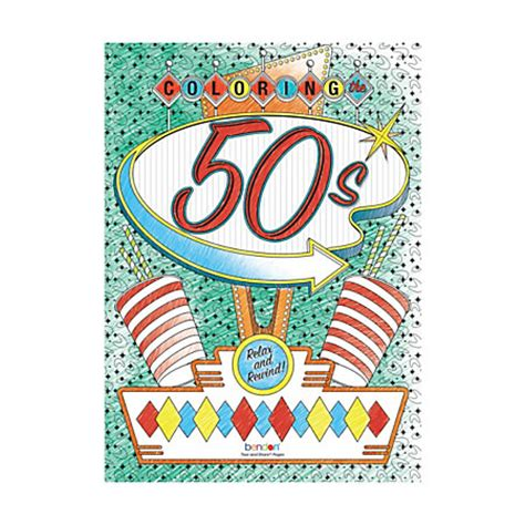bendon coloring books bendon coloring book 50s and 60s by office depot