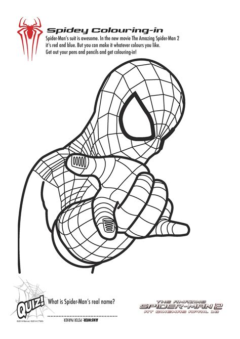 coloring pages amazing spider man free printable spiderman colouring pages and activity
