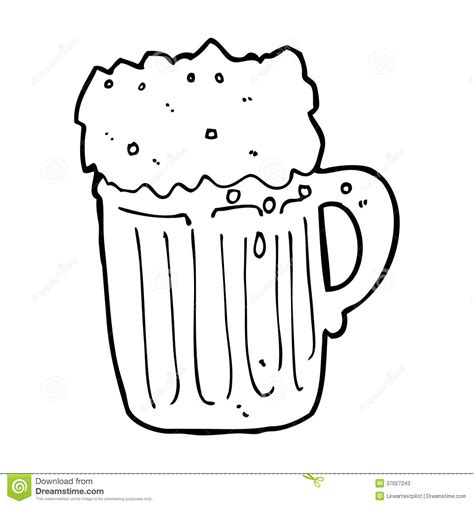 cartoon beer black and white cartoon mug of beer stock photos image 37027243