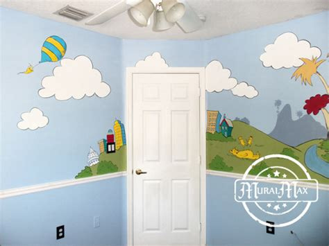 dr seuss wall mural murals dr seuss cat in the hat and lorax nursery wall