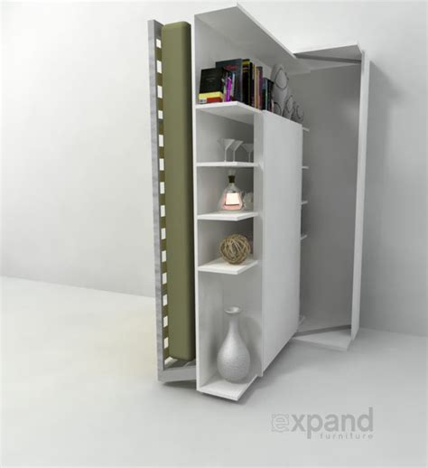 Bunk Bed Bookshelf Revolving Bookcase Italian Wall Bed Expand Furniture