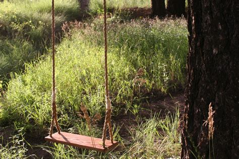 wooden rope swing wooden tree swing diy images