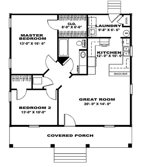 cabin style house plan 2 beds 1 baths 900 sq ft plan 18 327 two bedroom house plans two bedroom cottage floor