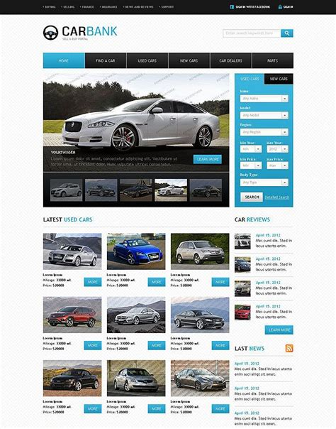 Buy Sell Cars Web Template An Eye Catching Collection Of Templates For You Pinterest Buy Website Templates