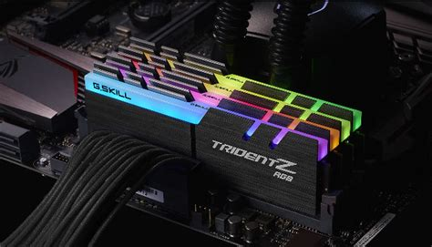 Ram Rgb g skill announces trident z rgb ddr4 memory kit with color