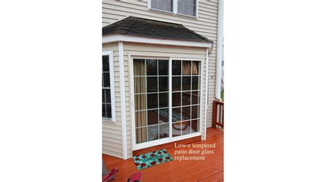 replaced patio door glass