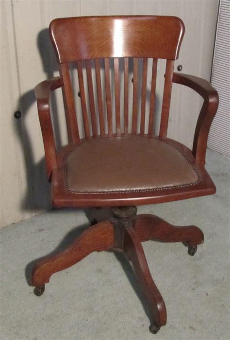 deco medium oak office desk chair antiques atlas
