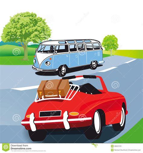 caravane de moteur et voiture de sport illustration de
