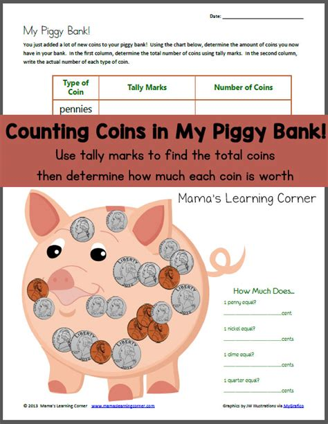 bank grade counting coins in my piggy bank