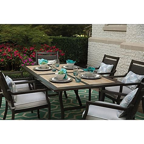 Agio Patio Dining Set Agio Maddox 7 Combo Outdoor Dining Set Bed Bath Beyond