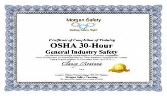 osha 10 card template best photos of osha certificate template osha