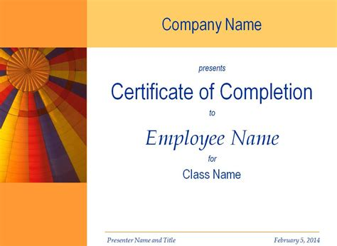 class completion certificate template completion certificate template