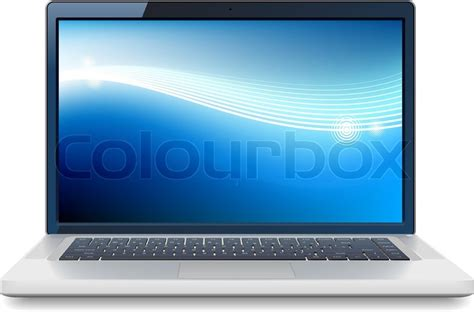 wallpaper laptop vektor laptop mit abstrakt wallpaper vektorgrafik colourbox