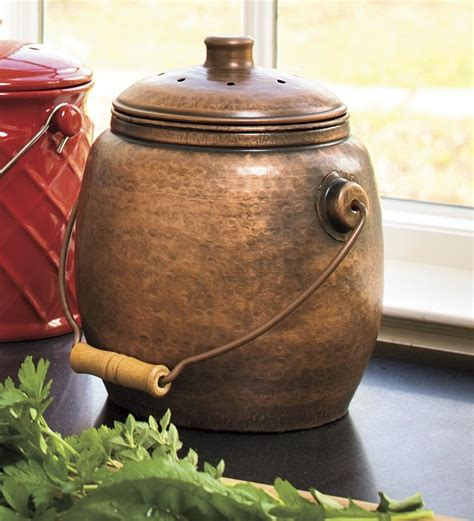compost canister kitchen countertop compost container kitchen outdoor decorations